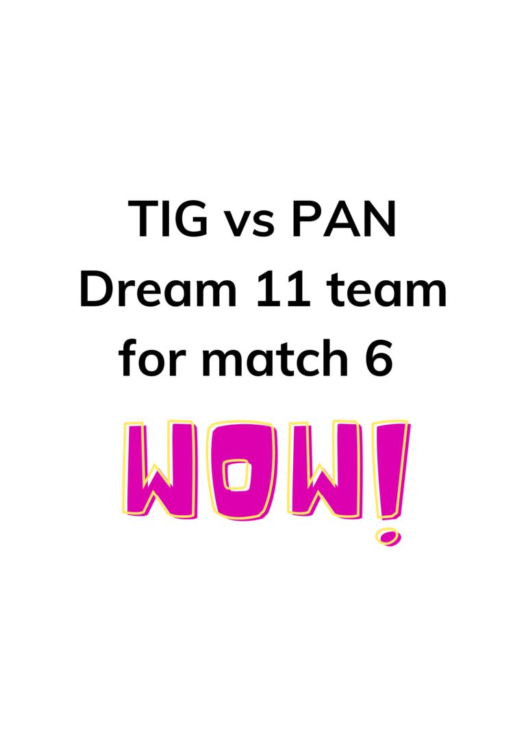 Dream 11 team